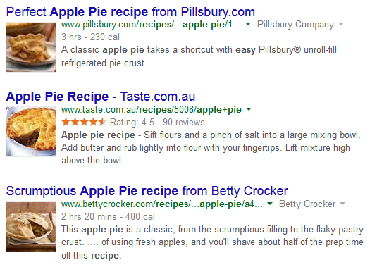 Text Box: Figure 2 - Apple Pie Recipes