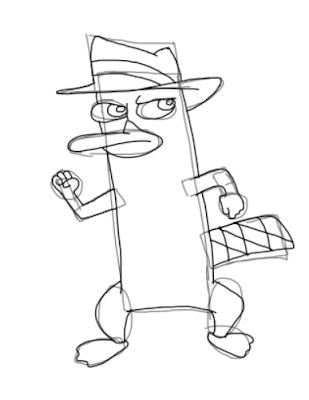 Dibuja caricaturas : Dibuja a Perry el Ornitorrinco