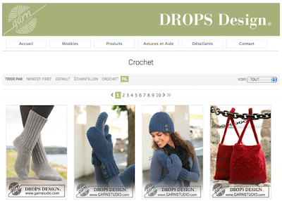 Patrons de crochet Drops Design