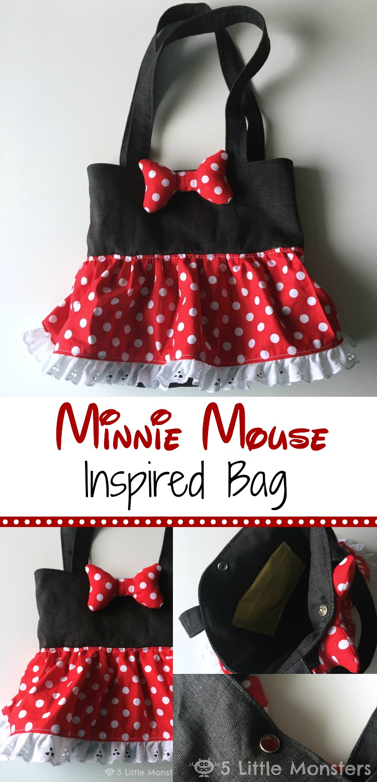 5 Little Monsters Minnie Mouse Inspired Bag