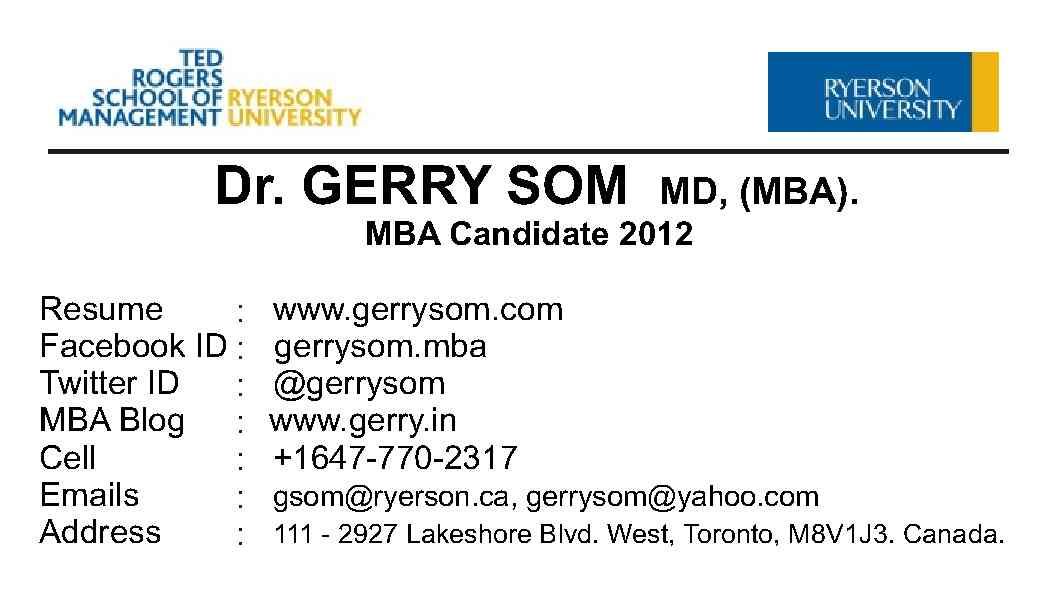 Gerry mba blog ryerson university ted rogers school of gave order for 1000 business cards here is the first proof of the cards hope to get delivery soon colourmoves