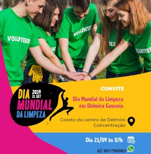 Dia mundial da limpeza em Delmiro 21/09/2019