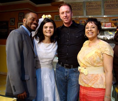 The Waffle Palace at Horizon Theatre, (Brandon Alexander, Maria Rodriguez-Sager, me, Marguerite Hannah)