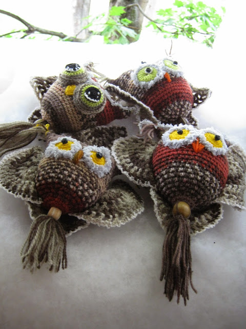 Owls crocheted