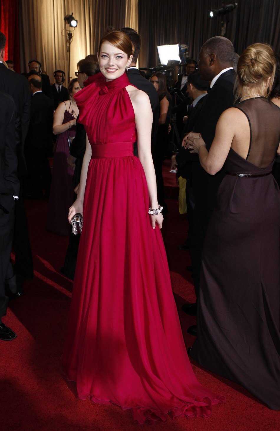 2015 Emma Stone Oscars Red Carpet