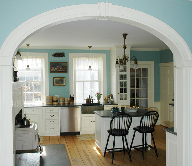 cottage blue designs finally i 39 m sharing our kitchen and On small kitchen arch design