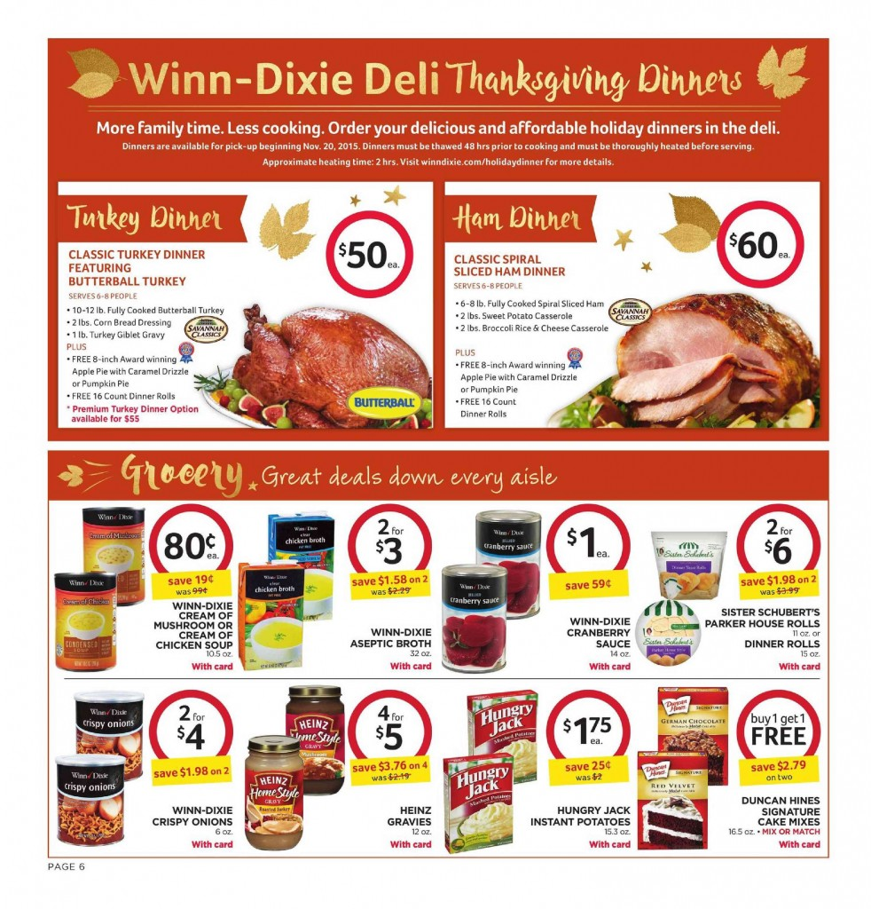 Winn Dixie Weekly Ad November 11 17 2015 Winn Dixie Weekly Ad