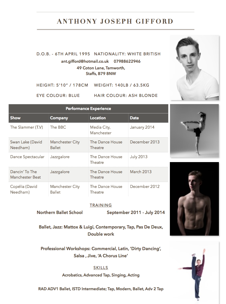 Dance Resume Sample Image Free Sample Resume Cover  Sample Dance Resume