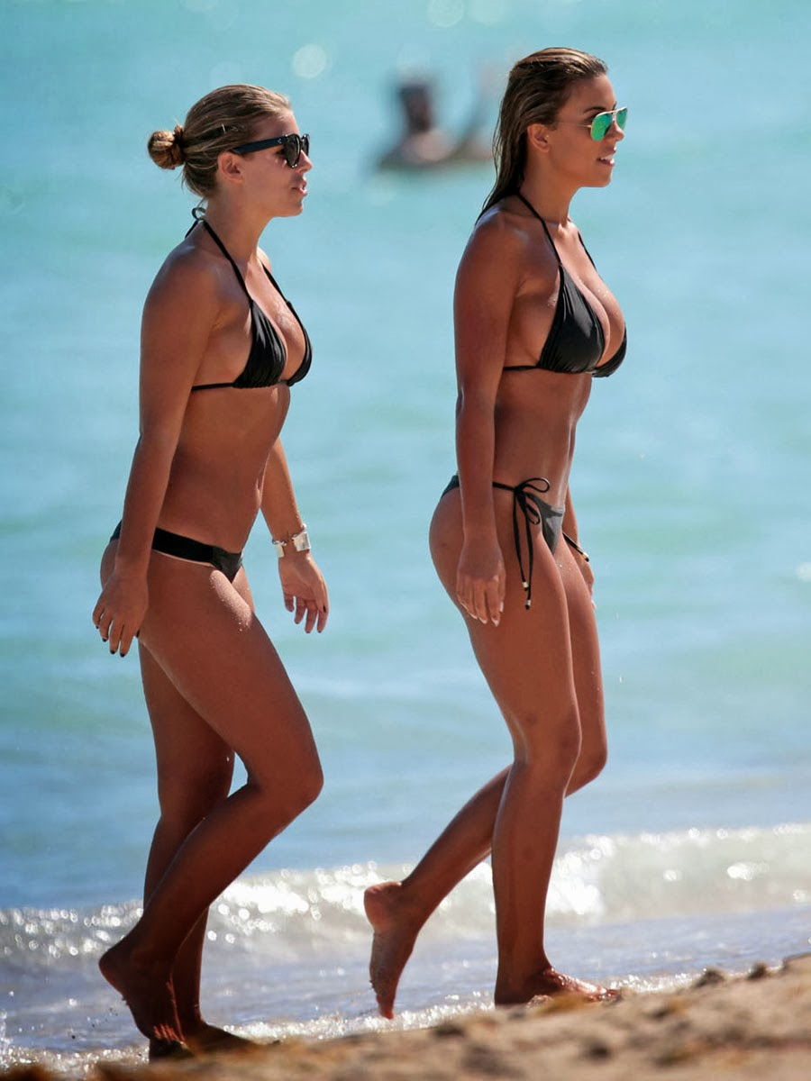 Natasha Oakley And Devin Brugman Hot Bodies Candid Bikini Pictures