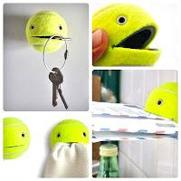 Manualidad con pelotas de tenis, manualidades fáciles, manualidades para regalar