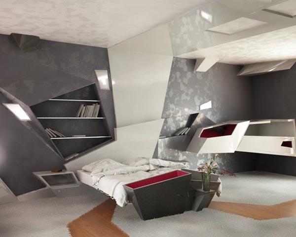 Futuristic Modern Apartment Interior Design