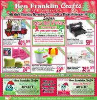Ideas and inspirations thanksgiving day super early bird for Ben franklin craft store coupons