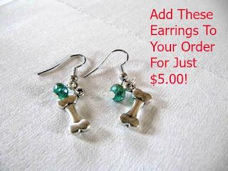 Cute handmade dog bone earrings