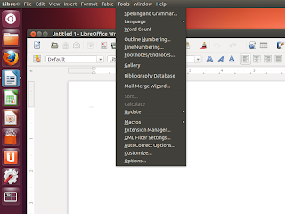 ubuntu 12.10 quantal quetzal beta 1 libreoffice appmenu screenshot