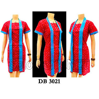 DB3021 - Model Baju Dress Batik Modern Terbaru 2013