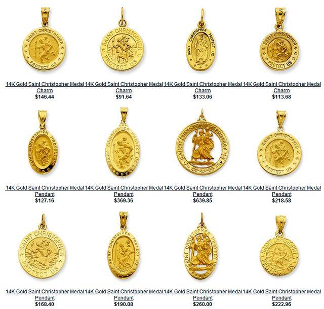 Patron saints medals st christopher catholic patron saint of st christopher medals aloadofball Choice Image