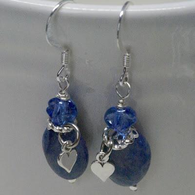 Romantic Snorkel Blue Earrings