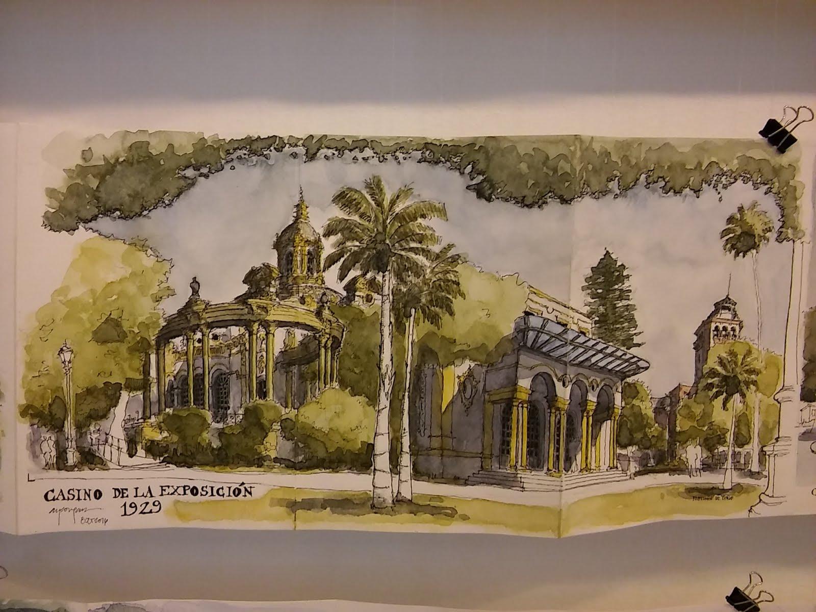 Cultura de sevilla exposici n de urban sketchers en el - Colegio de arquitectos sevilla ...