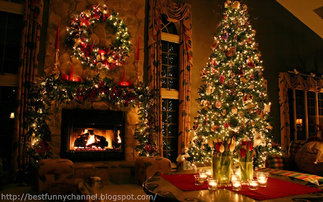 Beautiful Christmas room.