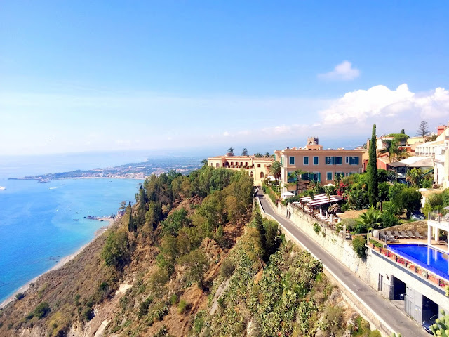 View of Mt. Etna from Taormina  |  September in Sicily on afeathery*nest  |  http://afeatherynest.com