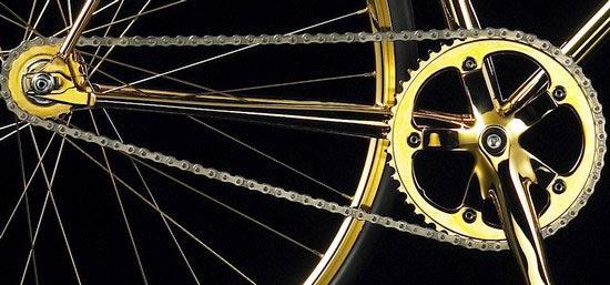 αλυσίδα χρυσού ποδηλάτου