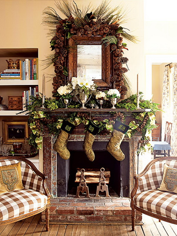 December 2012 ideas for home decor for Christmas mantel design ideas