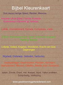Bijbel Kleuren Kaart