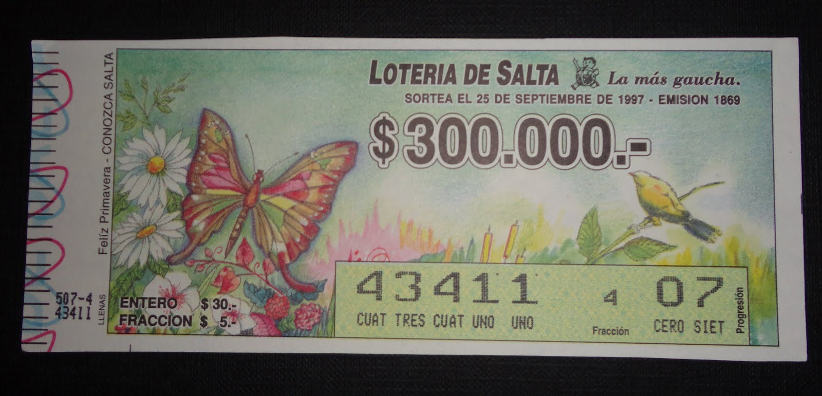 Lottery - Argentina 1997