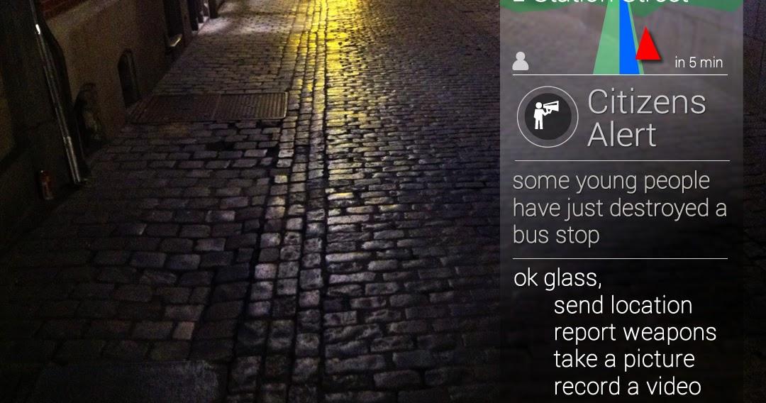 Burgeralarm bij ongeregeldheden met Google Glass