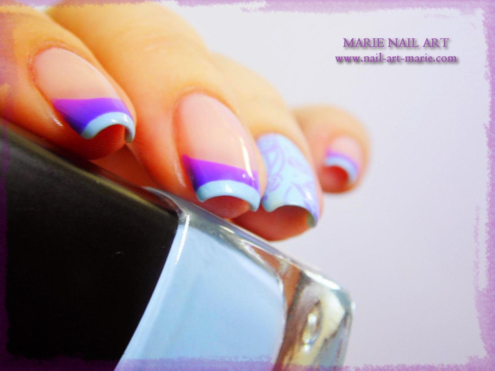 Nail Art Double French Thermique4