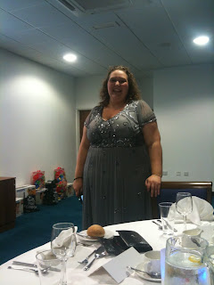 PippaD in her dress shortly before she flashed in the Girls Toilets
