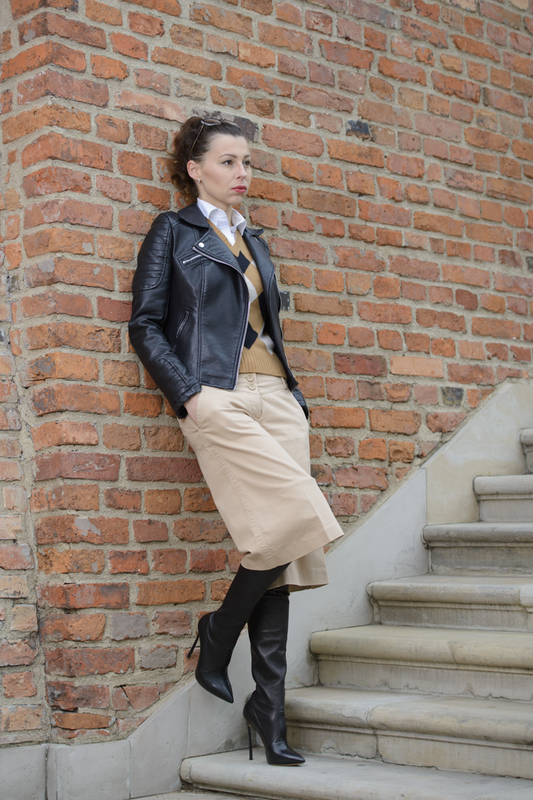 leather jakcet street style