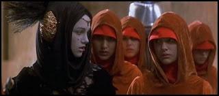 Natalie Portman, Sofía Coppola y Keira Knightley en La amenaza fantasma (1999)