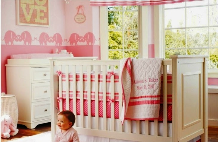 wall color for baby girl nursery