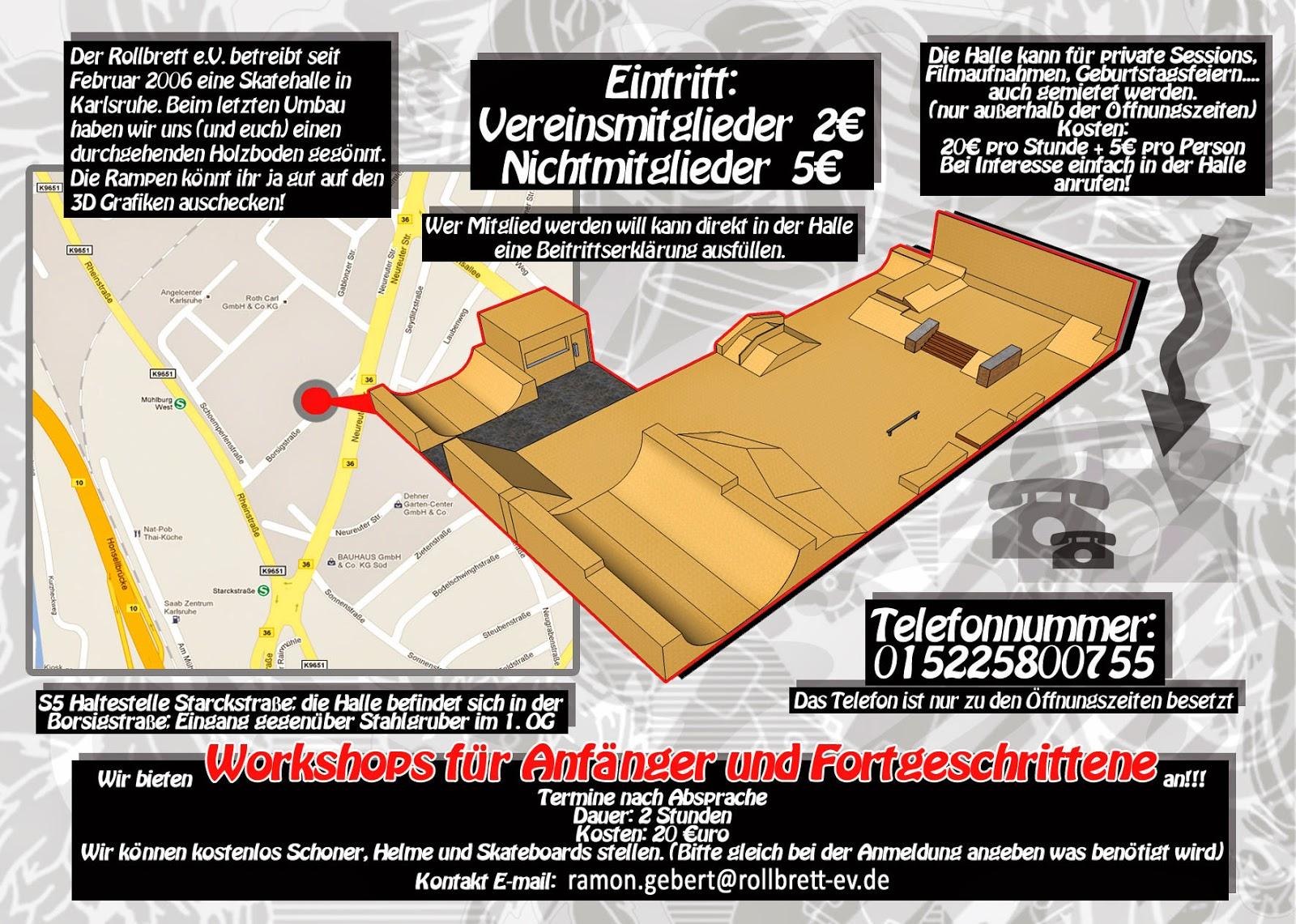 Rollbrett Bauhaus rollbrett e v karlsruhe workshops
