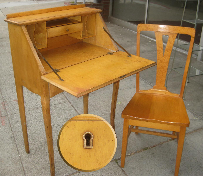 Uhuru Furniture Collectibles Sold Birdseye Maple Secretary Desk 200