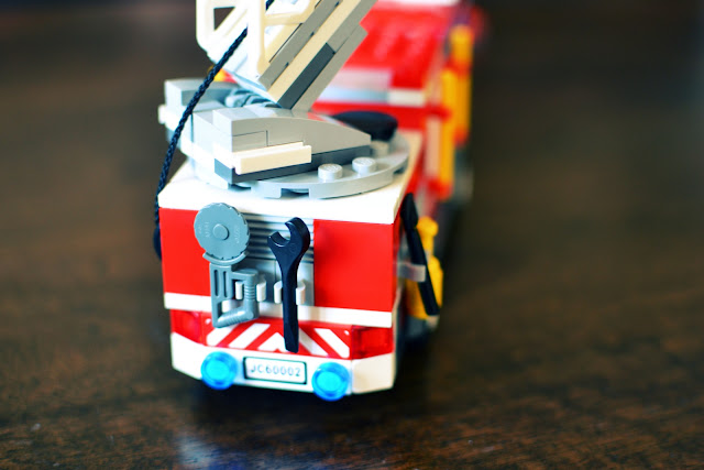 LEGO City Fire Truck from the back