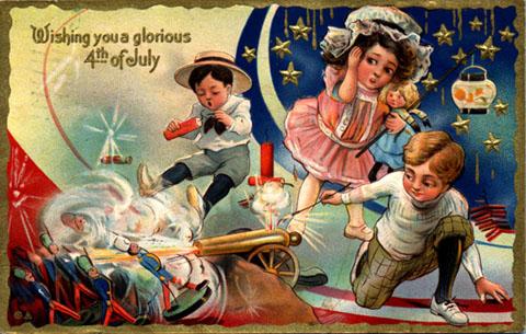 mystery fanfare fourth of july vintage postcards. Black Bedroom Furniture Sets. Home Design Ideas