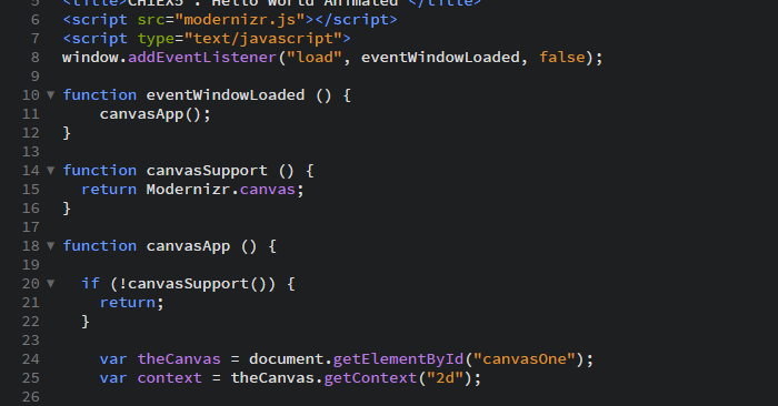 HTML5 Canvas Code
