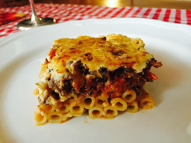 Greek lamb and mushroom pastitsio