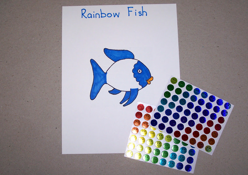 The princess and the tot the rainbow fish activity for Rainbow fish activities