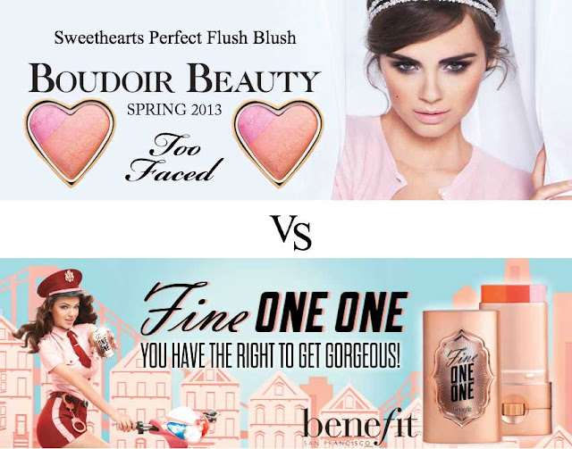 Benefit versus toofaced