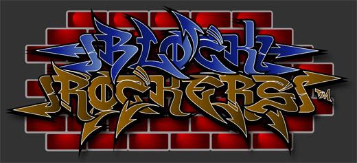graffiti fonts. Block rockers graffiti fonts
