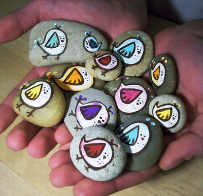Crafter on a budget crafts using rocks rock for Crafts made from rocks