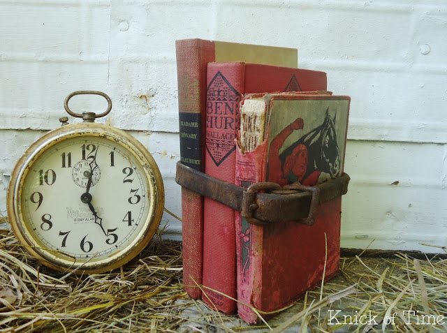 Antique Red Book Stacks Bundles via Knick of Time