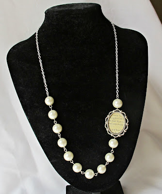 image jane eyre necklace asymmetrical glass pearls white cream two cheeky monkeys