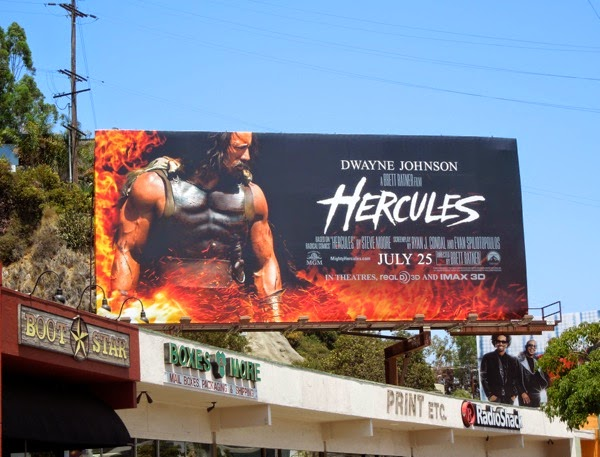 Dwayne Johnson Hercules movie billboard