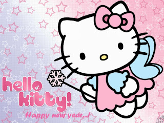 DP UCapan Tahun Baru Hello Kitty Happy New Year