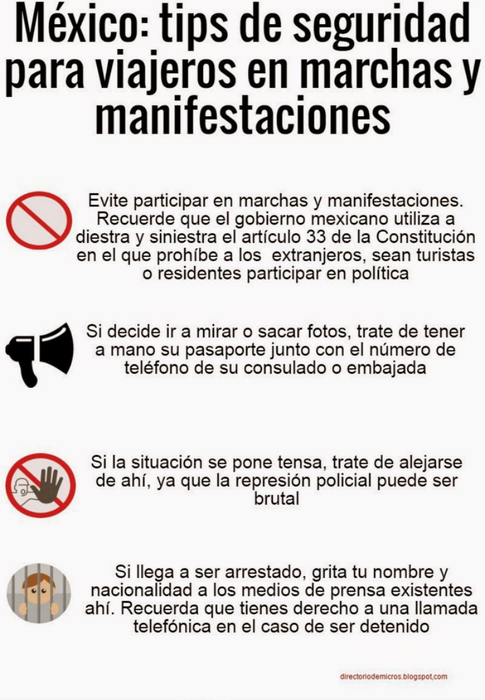 Seguridad Mexico México Tips de Seguridad en