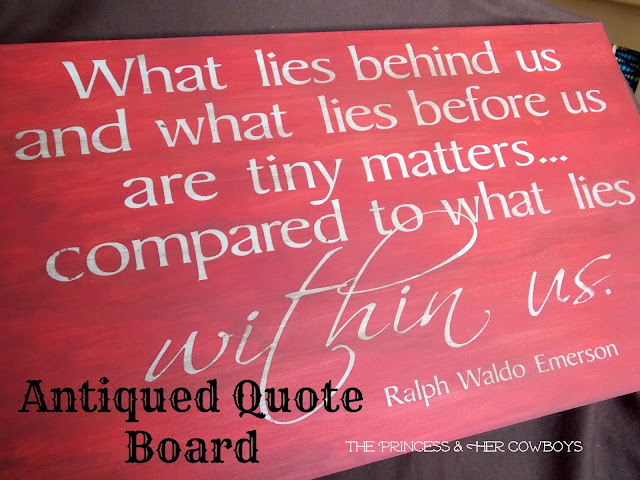 Antiqued Quote Board